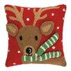 Peking Handicraft Reindeer 3D Hook Throw Pillow