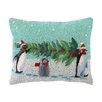 Peking Handicraft Carry That Tree Hook Wool Throw Pillow