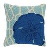 Peking Handicraft Nautical Knot Sand Dollar Wool Throw Pillow