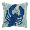 Peking Handicraft Nautical Knot Lobster Wool Throw Pillow