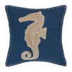Peking Handicraft Nautical Embroidery Throw Pillow