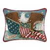 Peking Handicraft Eagle at Sea Needlepoint Wool Lumbar Pillow
