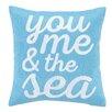 Peking Handicraft Beach Ocean Embroidered Wool Throw Pillow