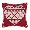 Peking Handicraft Fair Isle Heart Wool Throw Pillow