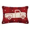Peking Handicraft Plaid Truck Wool Lumbar Pillow