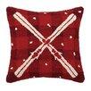 Peking Handicraft Plaid Ski Wool Throw Pillow