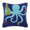 Peking Handicraft Octopus Holding Tree Wool Throw Pillow