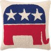 Peking Handicraft Republican Logo Wool Throw Pillow