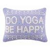 Peking Handicraft Do Yoga Be Happy Cotton Lumbar Pillow