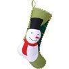 Peking Handicraft Snowman and Tree Felt Stocking