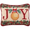 Peking Handicraft Joy Needlepoint Lumbar Pillow