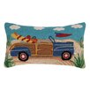 Peking Handicraft Woodie Convertible Hook Cotton Lumbar Pillow