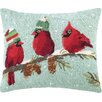 Peking Handicraft Bird Hook Wool Throw Pillow