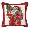 Peking Handicraft Holly Sparkle Needlepoint Pillow