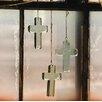 Glass Cross Suncatcher - Kalalou Garden Statues and Outdoor Accents