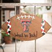 Texas Tech Football Burlee Garden Sign - Glory Haus Garden Statues and Outdoor Accents
