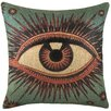 TheWatsonShop Eye Burlap Throw Pillow
