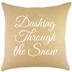 TheWatsonShop Dashing Through the Snow Burlap Throw Pillow