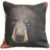 TheWatsonShop Bear Burlap Throw Pillow