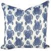 TheWatsonShop Turtles Cotton Throw Pillow