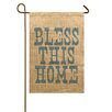 TheWatsonShop Bless This Home Garden Flag