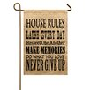 TheWatsonShop House Rules Garden Flag