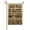 TheWatsonShop Family Rules Garden Flag