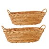 WaldImports Oval Willow Basket (Set of 2)