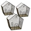 WaldImports 3 Piece Metal Wire House Set (Set of 3)
