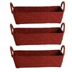 WaldImports Seagrass Reed Basket (Set of 3)