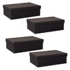 WaldImports Paperboard Box with Lid (Set of 4)