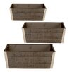 WaldImports 3 Piece Rectangular  Rail Planter Set (Set of 2)