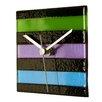 River City Clocks Square Glass Stripe Wall Clock