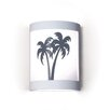 A19 Silhouette Twin Palms 1 Light Wall Sconce