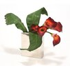 Distinctive Designs Silk Floral Calla Lilies and Tacca Orchid Leaves in Vase