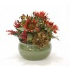 Distinctive Designs Rust Sunflowers in Stoneware Planter