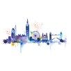 """Art Group Leinwandbild """"London Skyline"""" von Summer Thornton, Kunstdruck"""