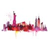 Art Group New York Skyline by Summer Thornton Art Print on Canvas