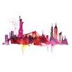 Art Group LeinwanddruckNew York Skyline von Summer Thornton