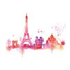 Art Group Paris Skyline Large by Summer Thornton Art Print on Canvas