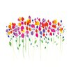"Art Group Leinwandbild ""Vibrant Floral"" von Summer Thornton, Kunstdruck"