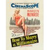 Art Group Marilyn Monroe Millionaire Vintage Advertisement Canvas Wall Art