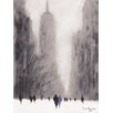 "Art Group Leinwandbild ""Heavy Snowfall, 5th Avenue - New York"" von Jon Barker, Kunstdruck"