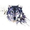 """Art Group Leinwandbild """"Snow Wolf"""" von Sarah Stokes, Grafikdruck"""