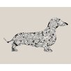 Art Group Dachshund by Louise Tate Graphic Art on Canvas