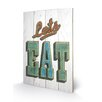 Art Group Let's Eat by Barry Goodman Typography Plaque