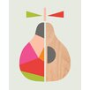 Art Group Geometric Pear by Little Design Haus Graphic Art on Canvas