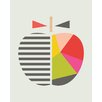 "Art Group Leinwandbild ""Geometric Apple"" von Little Design Haus, Wandbild"