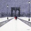 "Art Group Leinwandbild ""Nighttime Stroll Across Brooklyn Bridge"" von Jon Barker, Kunstdruck"