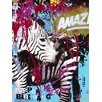 Art Group Zebrafitti Customized by Ben Allen Canvas Wall Art